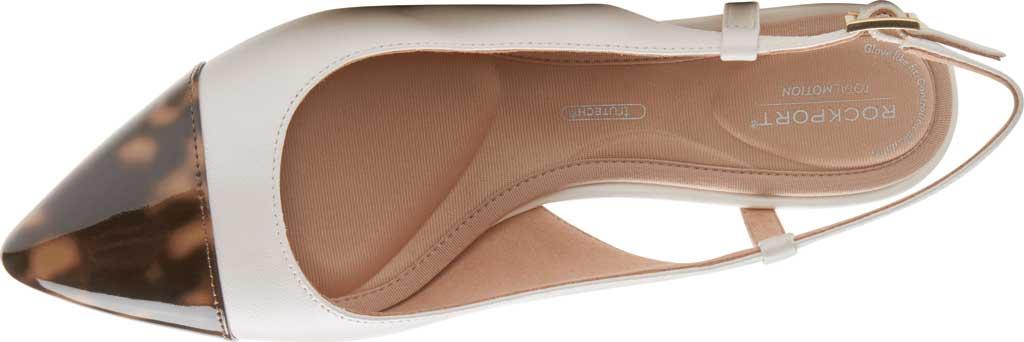 Women's Rockport Total Motion Salima Posted Slingback, Vanilla Leather/Patent, large, image 4