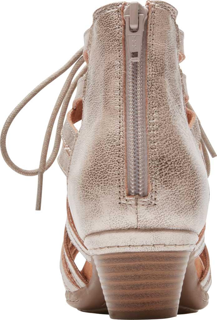 Women's Rockport Cobb Hill Laurel Caged Sandal, Metallic Antiqued Leather, large, image 3