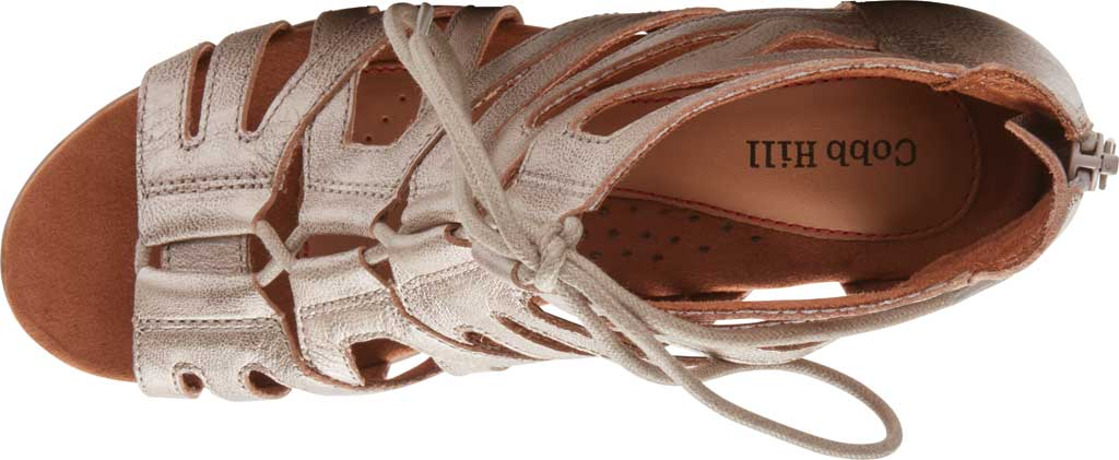 Women's Rockport Cobb Hill Laurel Caged Sandal, Metallic Antiqued Leather, large, image 4