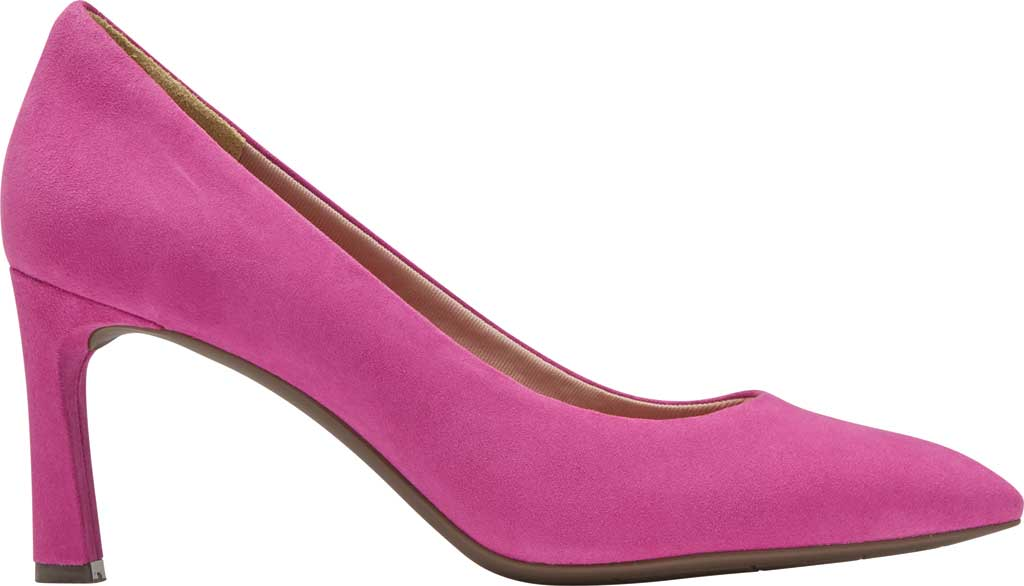 Women's Rockport Total Motion Sheehan Pointed Toe Pump, Magenta Suede, large, image 2