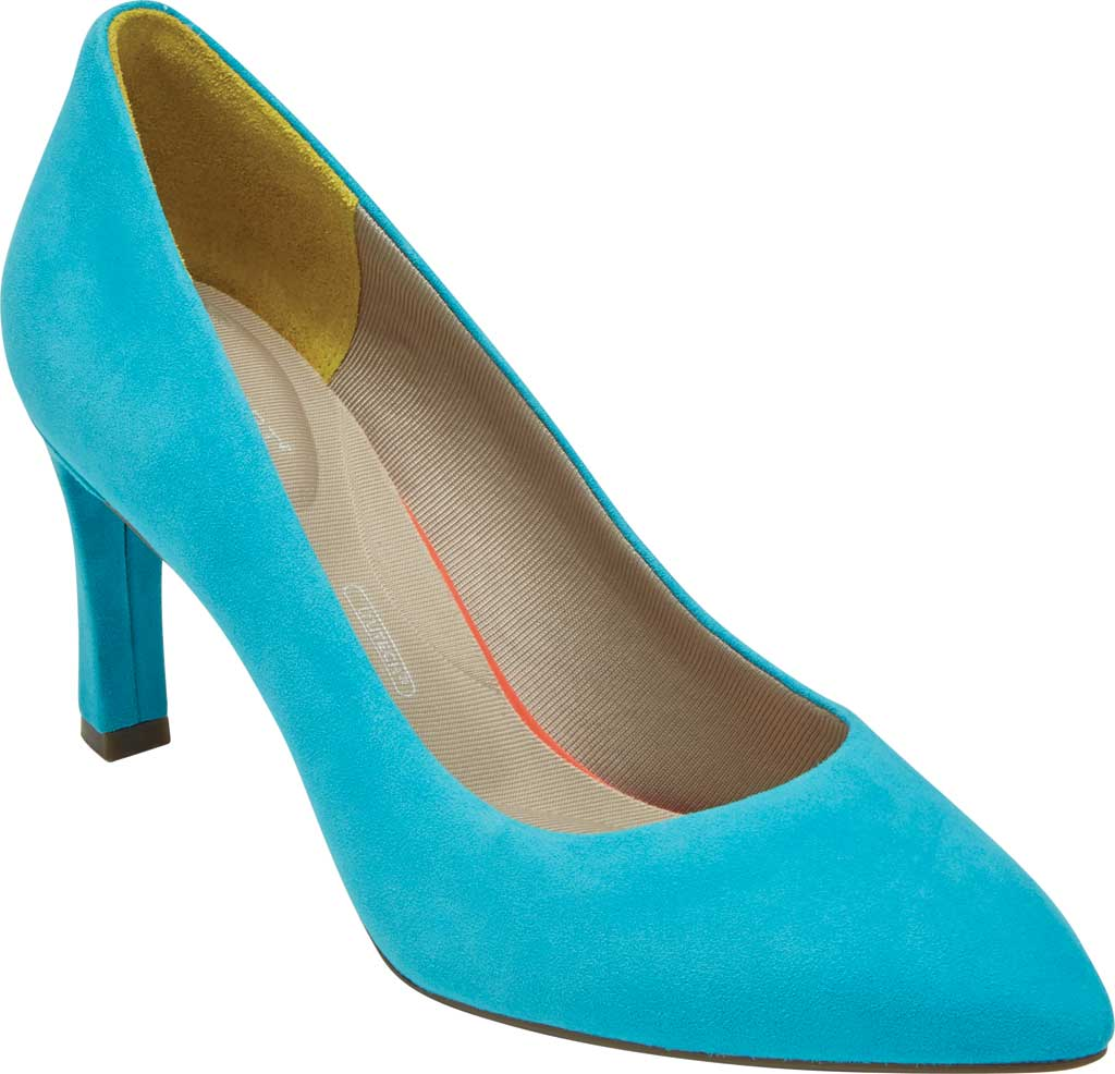 Women's Rockport Total Motion Sheehan Pointed Toe Pump, Bluejay Suede, large, image 1