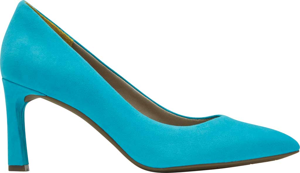 Women's Rockport Total Motion Sheehan Pointed Toe Pump, Bluejay Suede, large, image 2