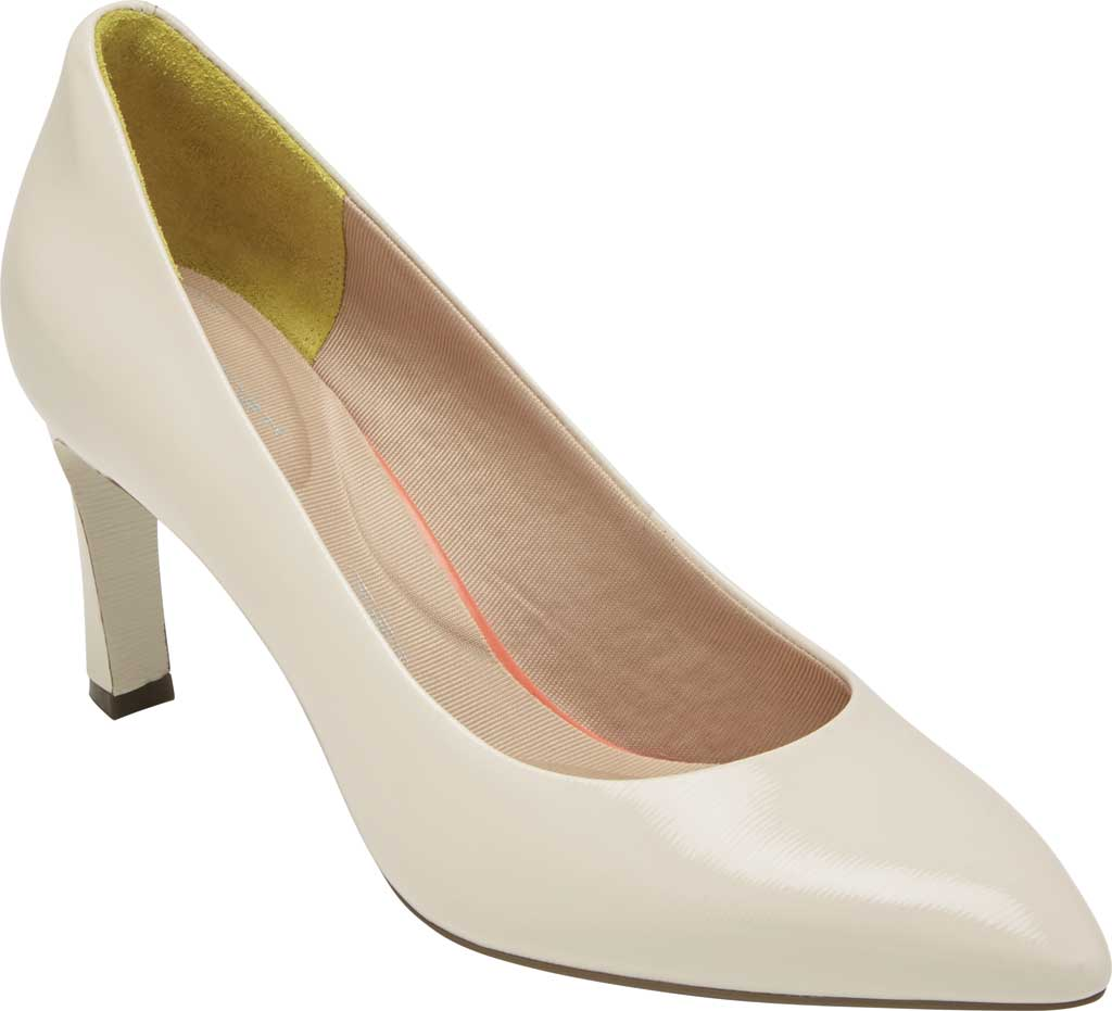 Women's Rockport Total Motion Sheehan Pointed Toe Pump, Vanilla Patent, large, image 1