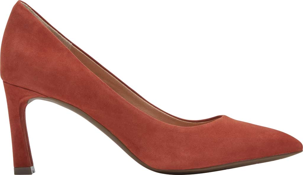 Women's Rockport Total Motion Sheehan Pointed Toe Pump, Cider Kid Suede, large, image 2