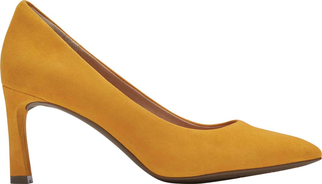 Women's Rockport Total Motion Sheehan Pointed Toe Pump, Marigold Kid Suede, large, image 2