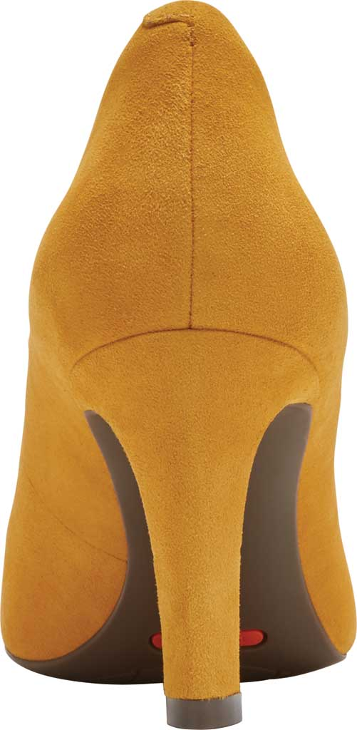 Women's Rockport Total Motion Sheehan Pointed Toe Pump, Marigold Kid Suede, large, image 3