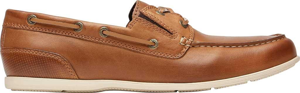 Men's Rockport Malcom Camp Moccasin, Ginger Leather, large, image 2