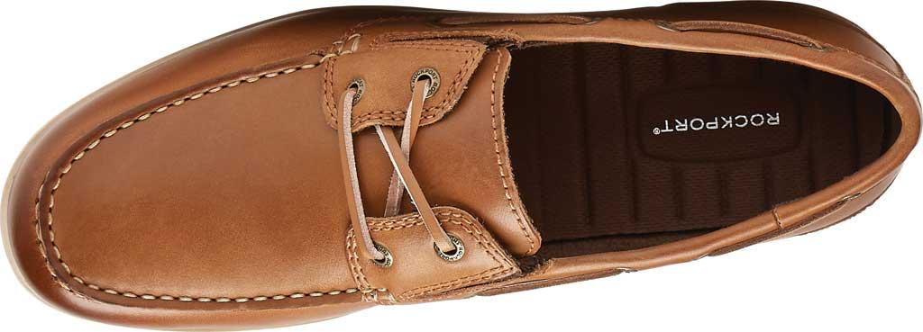 Men's Rockport Malcom Camp Moccasin, Ginger Leather, large, image 4