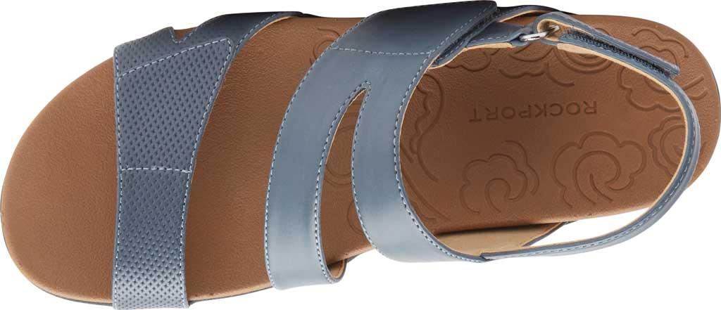 Women's Rockport Ridge Asym Slingback Sandal, Blue Leather, large, image 4