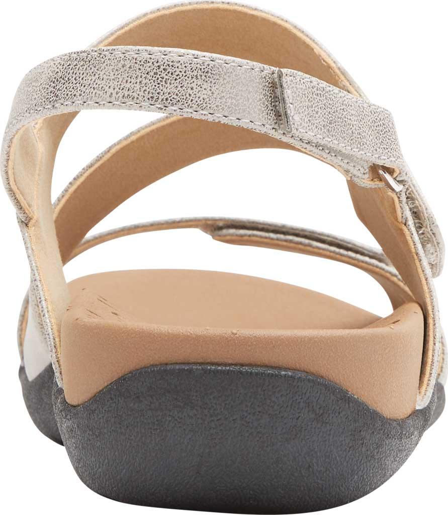 Women's Rockport Ridge Asym Slingback Sandal, Metallic Leather, large, image 3