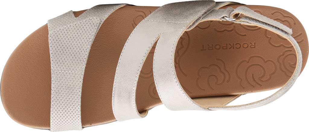 Women's Rockport Ridge Asym Slingback Sandal, Metallic Leather, large, image 4