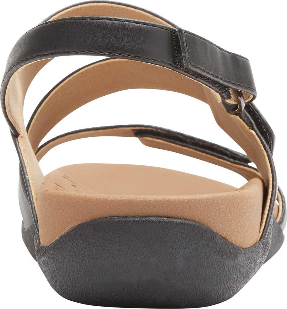 Women's Rockport Ridge Asym Slingback Sandal, Black Leather, large, image 3