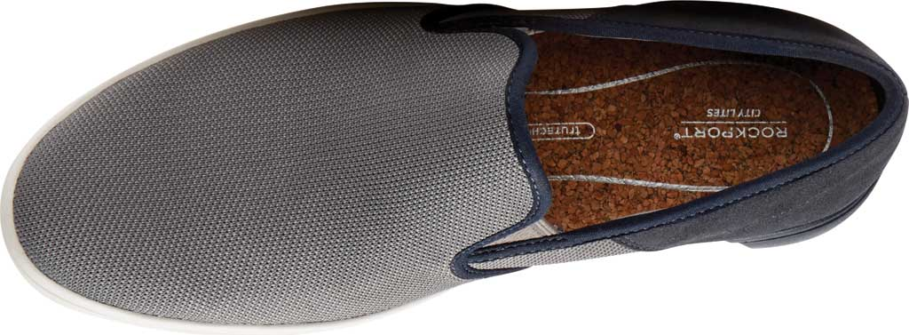 Men's Rockport City Lites Colle Slip On Sneaker, Grey Multi Synthetic/Textile, large, image 4
