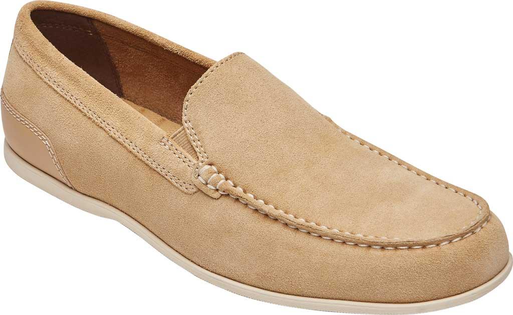 Men's Rockport Malcom Venetian Moc Toe Loafer, Tan Suede, large, image 1