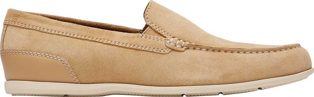 Men's Rockport Malcom Venetian Moc Toe Loafer, Tan Suede, large, image 2
