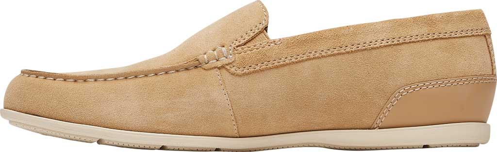 Men's Rockport Malcom Venetian Moc Toe Loafer, Tan Suede, large, image 3