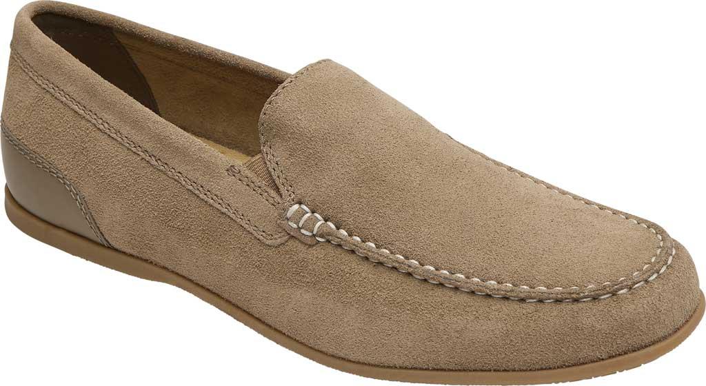 Men's Rockport Malcom Venetian Moc Toe Loafer, New Vicuna Suede, large, image 1