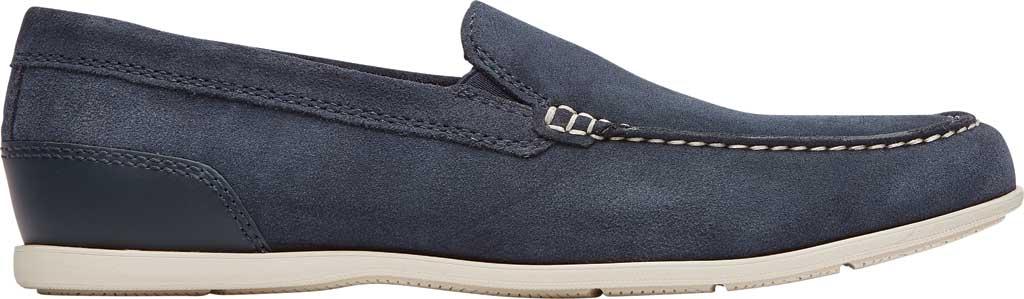 Men's Rockport Malcom Venetian Moc Toe Loafer, New Dress Blue Leather, large, image 2