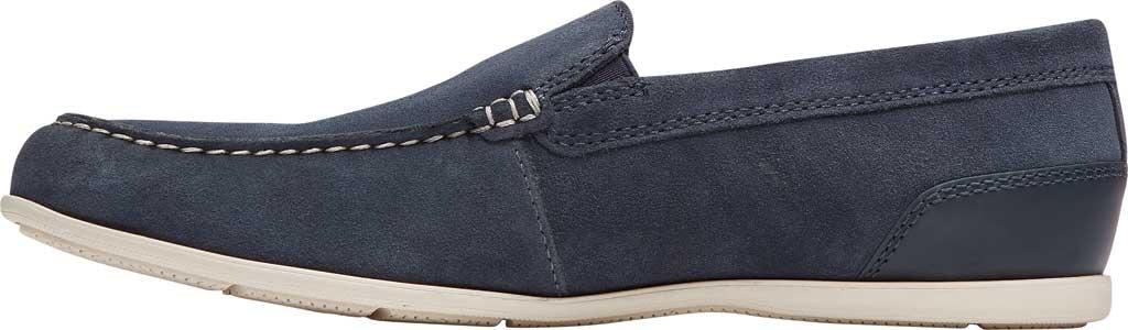 Men's Rockport Malcom Venetian Moc Toe Loafer, New Dress Blue Leather, large, image 3