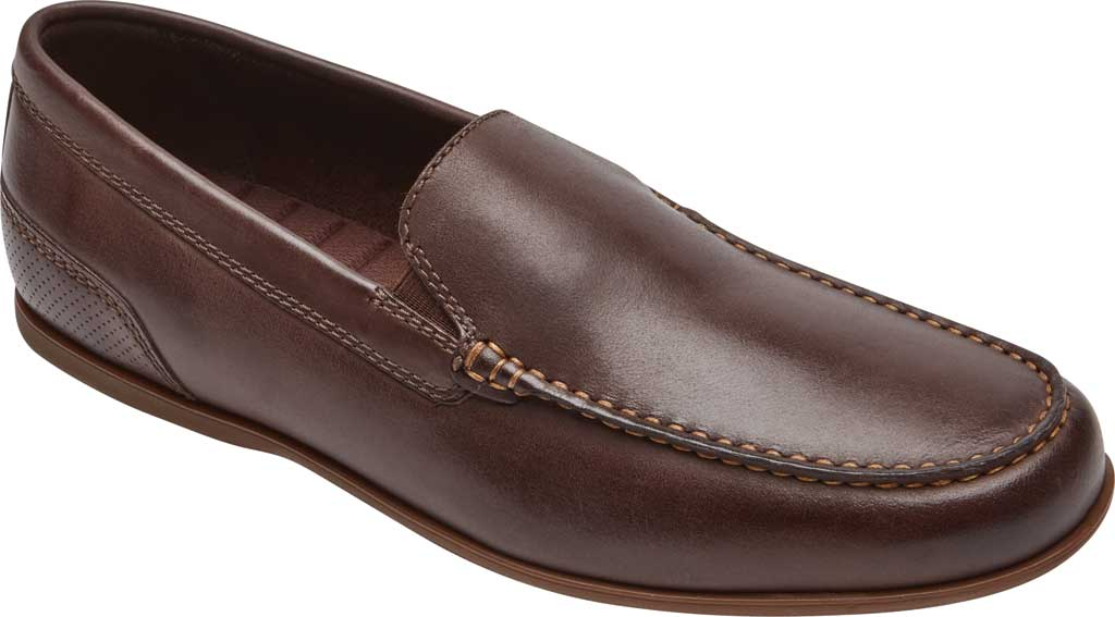 Men's Rockport Malcom Venetian Moc Toe Loafer, Java Leather, large, image 1