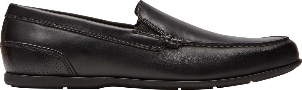 Men's Rockport Malcom Venetian Moc Toe Loafer, Black Leather, large, image 2