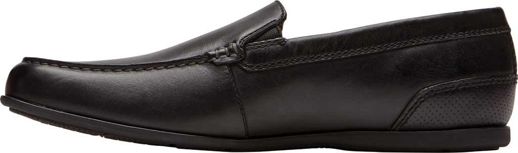Men's Rockport Malcom Venetian Moc Toe Loafer, Black Leather, large, image 3