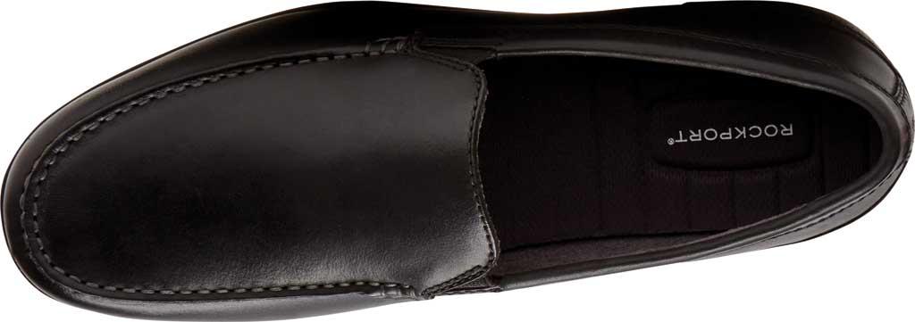 Men's Rockport Malcom Venetian Moc Toe Loafer, Black Leather, large, image 4