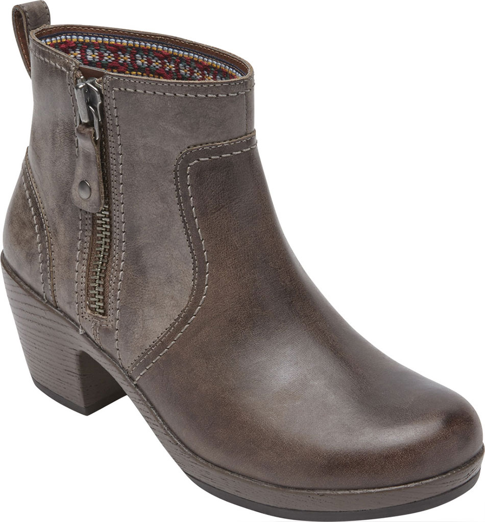 Women's Rockport Cobb Hill Presley Zip Ankle Bootie, Fossil Leather, large, image 1