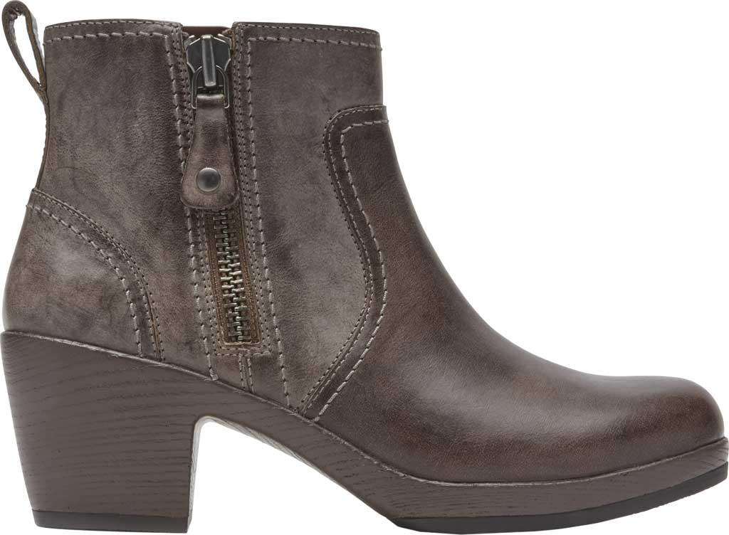Women's Rockport Cobb Hill Presley Zip Ankle Bootie, Fossil Leather, large, image 2