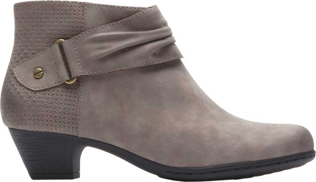 Women's Rockport Brynn Rouched Ankle Bootie, Dust Nubuck, large, image 2