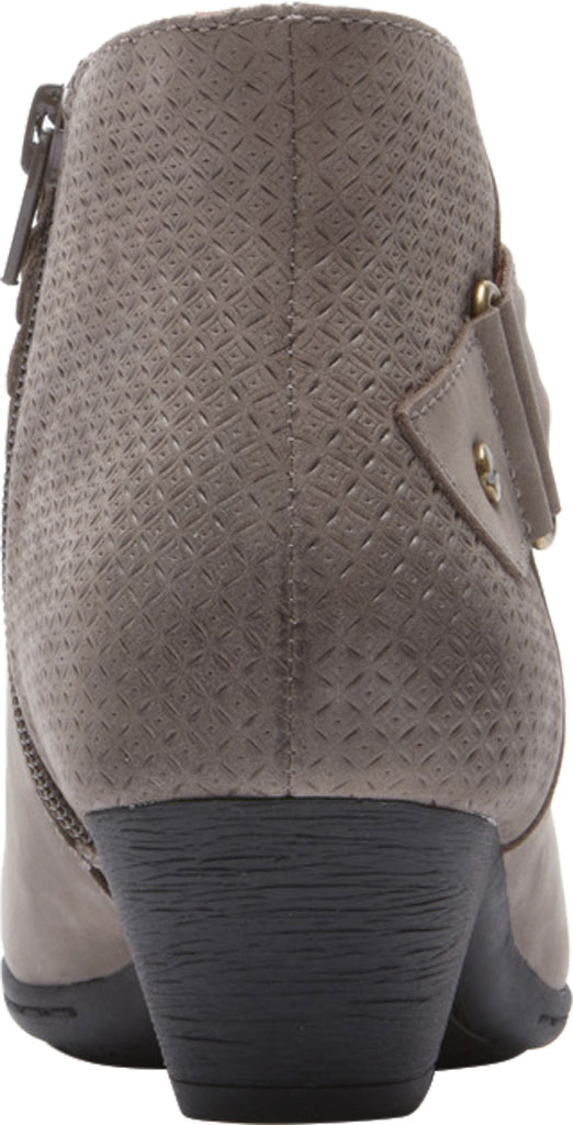 Women's Rockport Brynn Rouched Ankle Bootie, Dust Nubuck, large, image 3