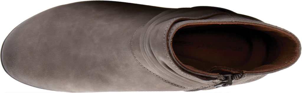 Women's Rockport Brynn Rouched Ankle Bootie, Dust Nubuck, large, image 4