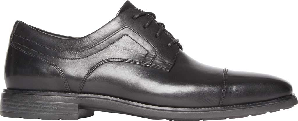 Men's Rockport DS Business 2 Captoe Oxford, Black Glass Leather, large, image 2
