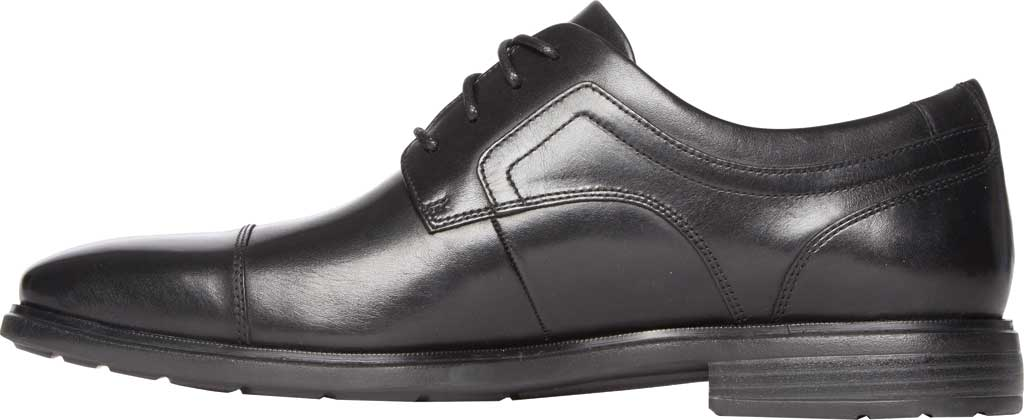 Men's Rockport DS Business 2 Captoe Oxford, Black Glass Leather, large, image 3