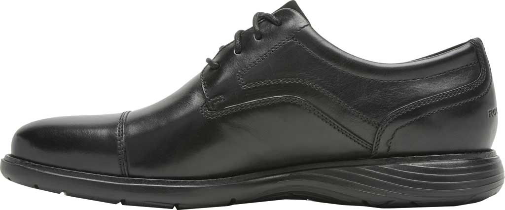Men's Rockport Garett Cap Toe Oxford, Black Leather, large, image 3