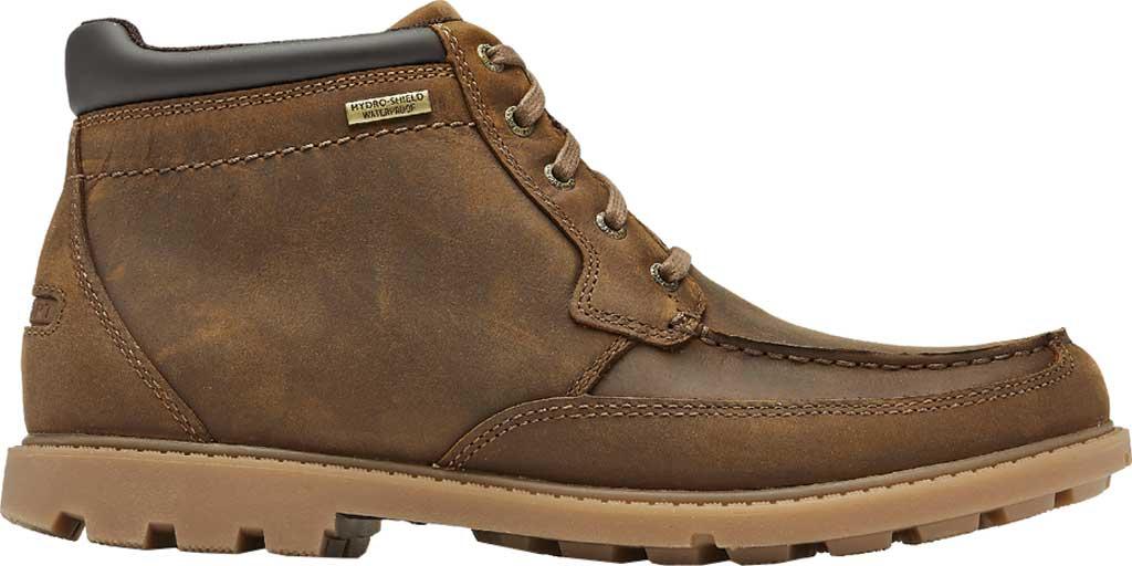 Men's Rockport Patten Waterproof Moc Toe Boot, Brown Waterproof Leather, large, image 2