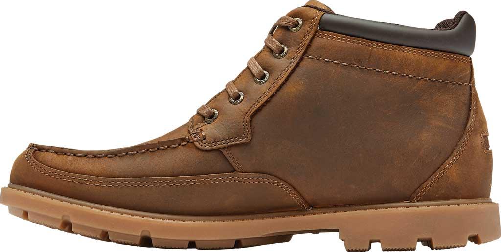 Men's Rockport Patten Waterproof Moc Toe Boot, Brown Waterproof Leather, large, image 3