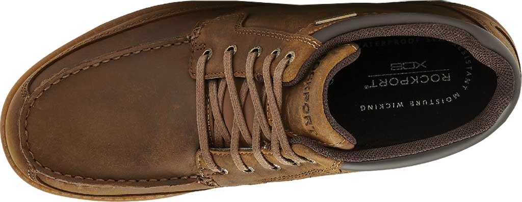 Men's Rockport Patten Waterproof Moc Toe Boot, Brown Waterproof Leather, large, image 4