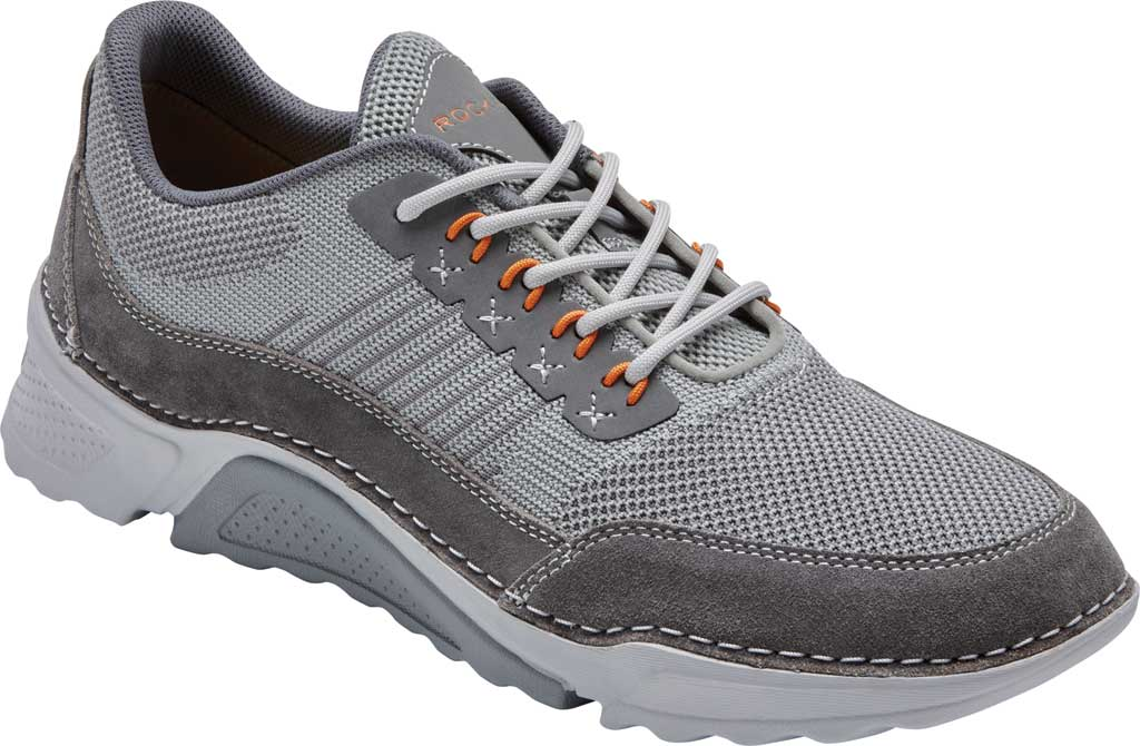 Men's Rockport Rocsports Ubal Sneaker, Grey Mesh/Leather, large, image 1