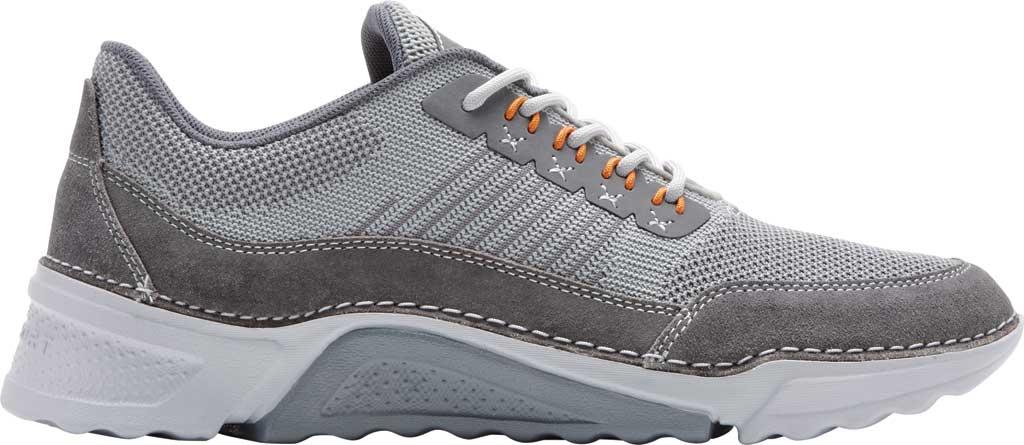 Men's Rockport Rocsports Ubal Sneaker, Grey Mesh/Leather, large, image 2