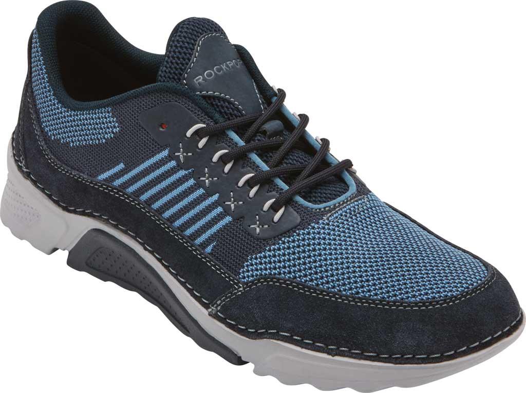 Men's Rockport Rocsports Ubal Sneaker, Navy Mesh/Suede, large, image 1