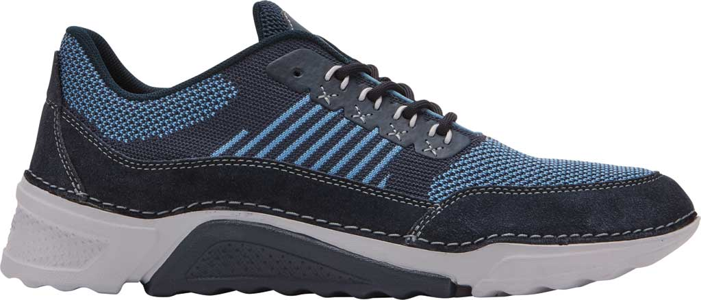 Men's Rockport Rocsports Ubal Sneaker, Navy Mesh/Suede, large, image 2
