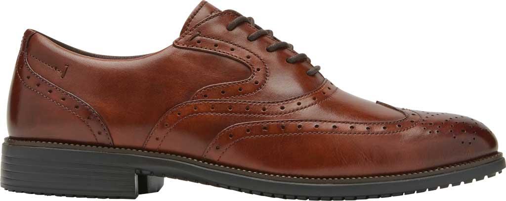 Men's Rockport Total Motion DresSport Wing Tip Oxford, Tan Leather, large, image 2
