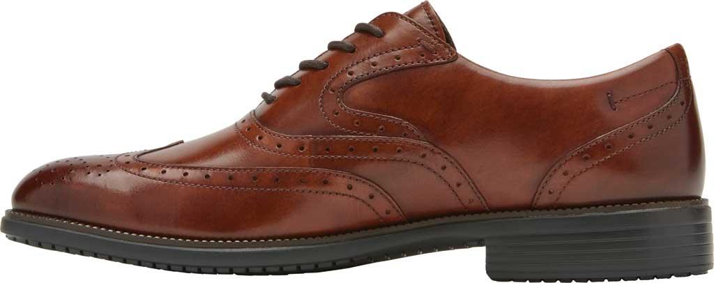 Men's Rockport Total Motion DresSport Wing Tip Oxford, Tan Leather, large, image 3