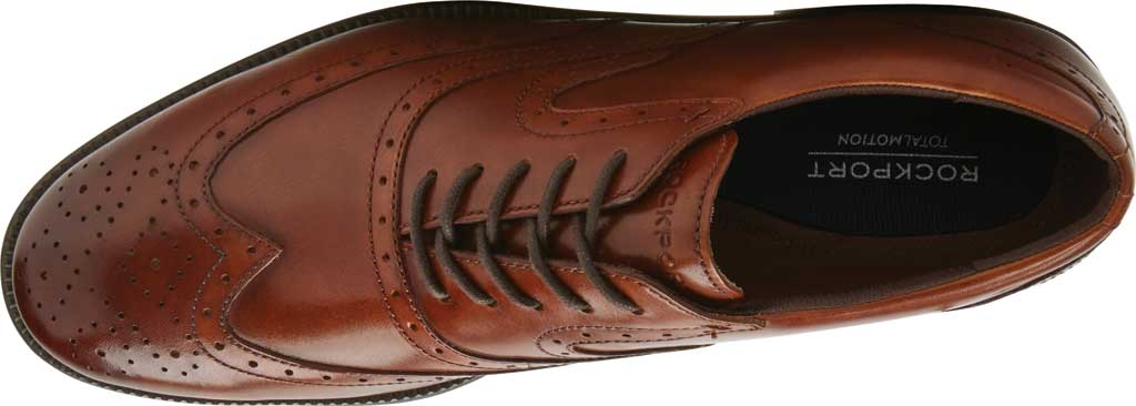 Men's Rockport Total Motion DresSport Wing Tip Oxford, Tan Leather, large, image 4