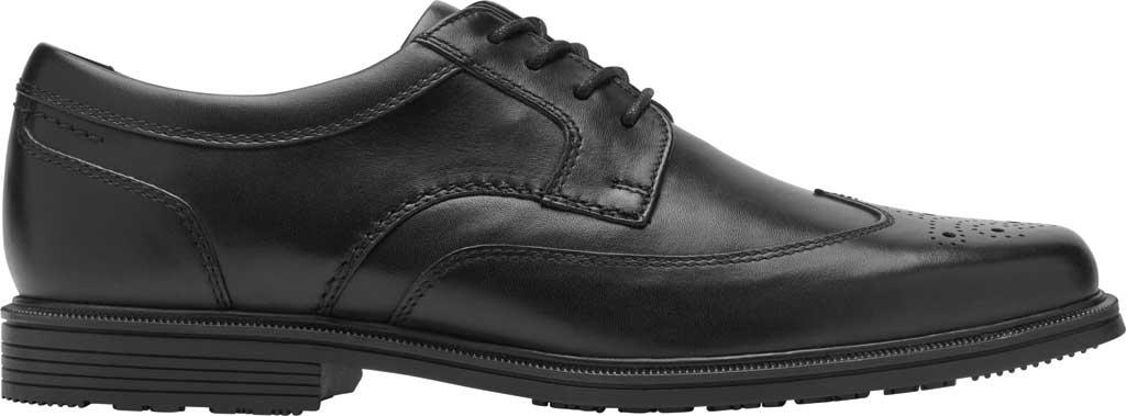 Men's Rockport Taylor Waterproof Wing Tip Oxford, Black Waterproof Leather, large, image 2
