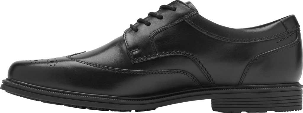 Men's Rockport Taylor Waterproof Wing Tip Oxford, Black Waterproof Leather, large, image 3