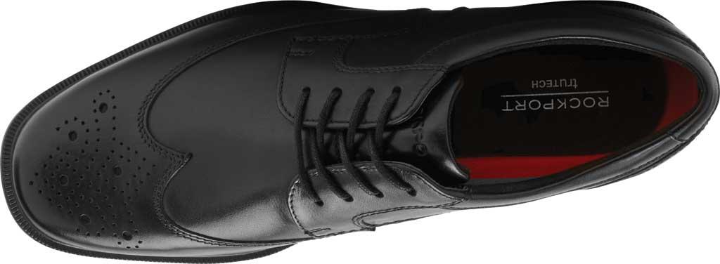 Men's Rockport Taylor Waterproof Wing Tip Oxford, Black Waterproof Leather, large, image 4