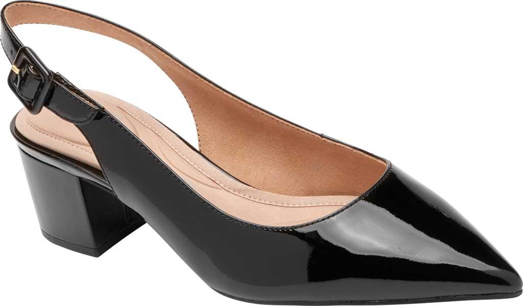 Women's Rockport Total Motion Noelle Slingback, Black Patent Leather, large, image 1