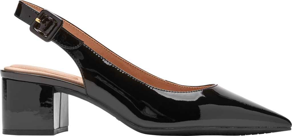 Women's Rockport Total Motion Noelle Slingback, Black Patent Leather, large, image 2